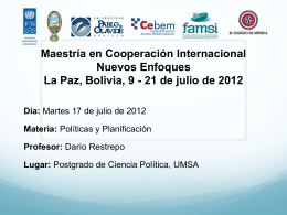 Darío Restrepo - Programa de Desarrollo Local