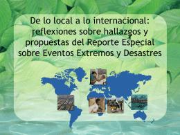 De lo local a lo internacional: reflexiones sobre hallazgos y