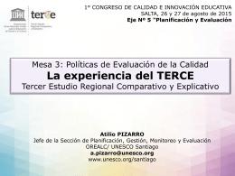 Tercer Estudio Regional Comparativo y Explicativo TERCE