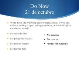 Me maquillo - REHS Español 2