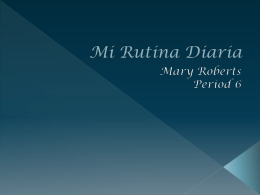 Mi Rutina Diaria - WLWV Staff Blogs