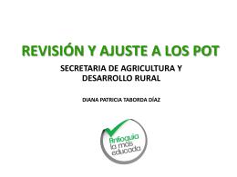 revisión y ajuste de los pot, un acercamiento a lo rural