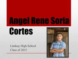 Hard work and dedication - Angel Rene Soria Cortes
