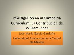 Investigación en el Campo del Curriculum: La Contribución de