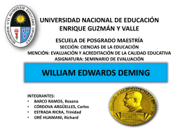 WILLIAM EDWARDS DEMING GRUPO 2 - Promoción 2013