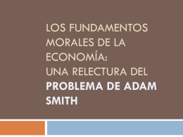 Los fundamentos morales de la economia