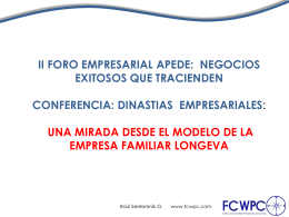 INTRODUCCIÓN A LA EMPRESA FAMILIAR