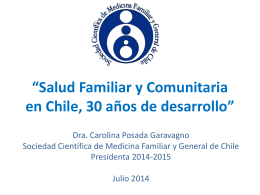 Salud Familiar y Comunitaria en Chile