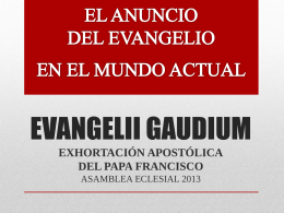 Evangelii Gaudium presentación en Power Point