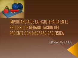 importancia de la fisioterapia en el proceso de rehabilitacion