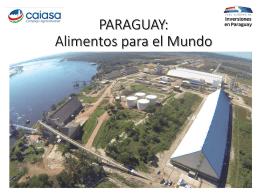 Importancia de la Agroindustria PARAGUAY 2020: ¿UN PAIS