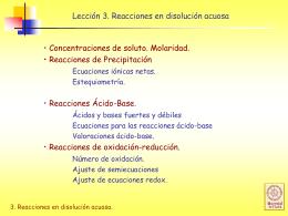 Reacciones ácido-base - Colegio Lord Cochrane