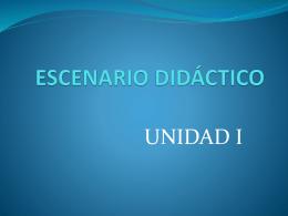 ESCENARIO DIDÁCTICO