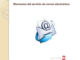 2.- Elementos del servicio de correo electrónico