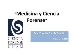 Dra. Zoraida García Castillo