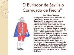 El Burlador de Sevilla o Convidado de PERSONAJES