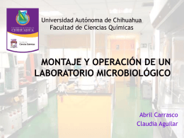 Montaje y operación de un laboratorio microbiológico