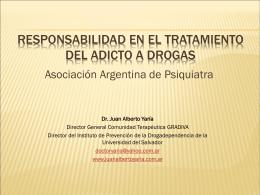 Responsabilidad en el tratamiento del adicto a drogas