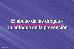 El abuso de drogas - Prevencion [74-d]