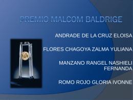Exposición Premio Malcom Baldrige