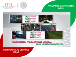 Premio Nacional del Trabajo 2015