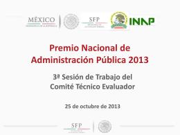 PREMIO NACIONAL DE ADMINISTRACIÓN PÚBLICA 2013
