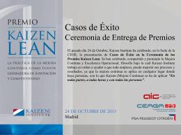 Premio Kaizen Lean 2013