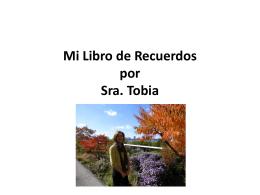 Mi libro de recuerdos Por Sra. Tobia