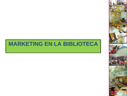 marketing en la biblioteca - Municipalidad de Barranco