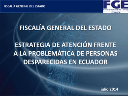 MEDICINA LEGAL - Fiscalía General del Estado Ecuador