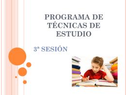 Programa de Técnicas de Estudio 3