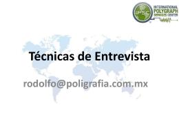 Diapositiva 1 - Entrevista e Interrogatorio