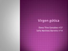 Virgen gotica - Salesianos