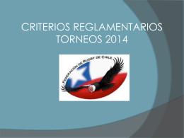 Criterios 2014 FERUCHI