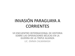 INVASIÓN PARAGUAYA A CORRIENTES