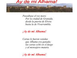 Ay de mi Alhama! - Spanish Lit. 5-6 & Honors 7-8