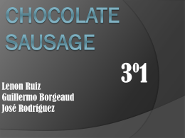Chocolate sausage