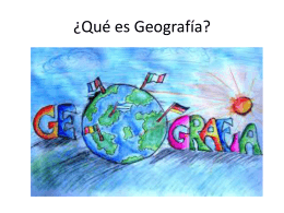 Qué es Geografía