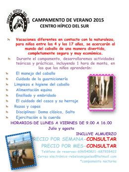 CAMPAMENTO-DE-VERANO - centro hípico del sur de tenerife