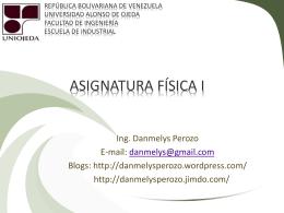 1 h - Ing. Danmelys Perozo