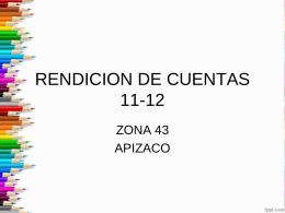 RENDICION DE CUENTAS 11-12