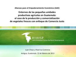 Entornos de las pequeñas unidades productivas agrícolas