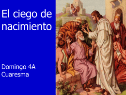 """IV Domingo de Cuaresma, Ciclo A. """"Creo, Señor"""" (Jn 9, 1-41)"""