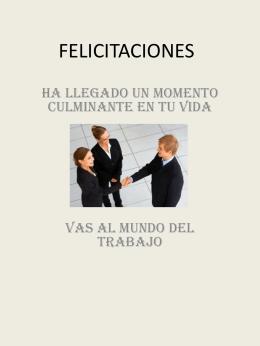 ! FELICITACIONES !