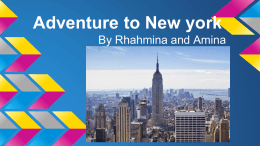 Adventure to New york