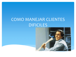 COMO MANEJAR CLIENTES DIFICILES (1942056)