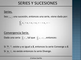 Series. - Cristian Castillo