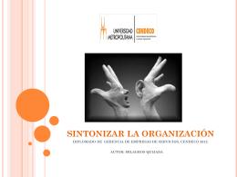 SINTONIZAR LA ORGANIZACION - diplomado-gerencia
