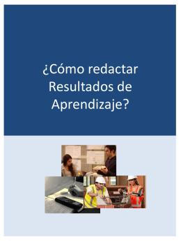 ¿Cómo redactar Resultados de Aprendizaje?