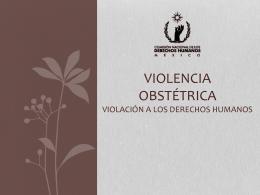 DERECHOS HUMANOS Y VIOLENCIA